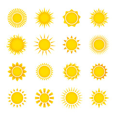 Sun Icons Collection Vector Set