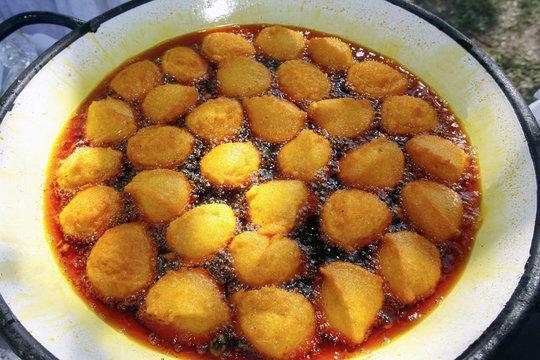 acarajé, traditional brazilian food