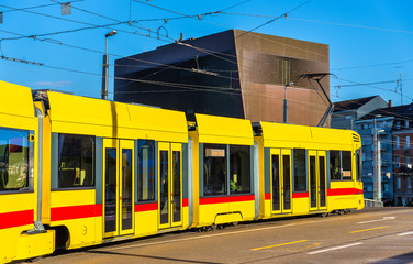 Tram in the city centre of Basel