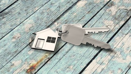 House keys on wood