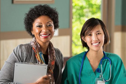 Healthcare Team. Administer and nurse.