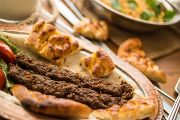 Turkish Adana Kebab.