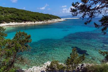 amazing view of Emblisi Fiskardo Beach, Kefalonia, Ionian islands, Greece
