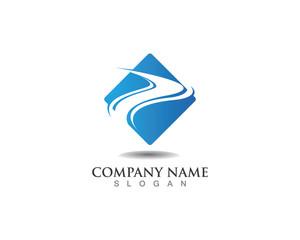 S letter  logo wave
