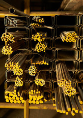 different shape of iron rods