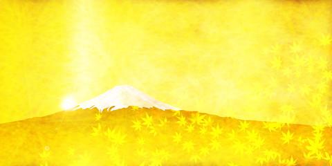金 富士山 紅葉 背景