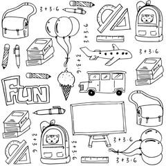 Hand draw education school doodles