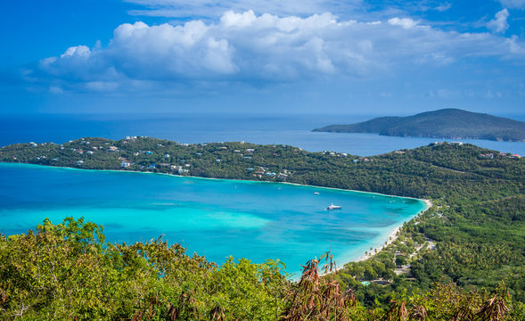 Magens Bay, landmark of St. Thomas island