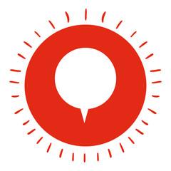 speech bubble isolated icon design, vector illustration  graphic
