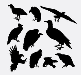 condor, vulture, and eagle bird silhouette. Good use for symbol, logo, web icon, sign, mascot, sticker design, or any design you want.