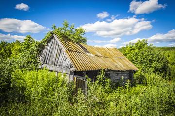 Wooden abandoned hut