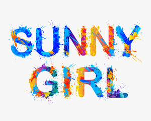 Sunny girl. Vector inscription