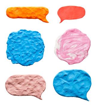 The texture of plasticine set