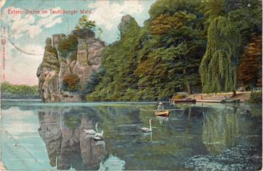 Externsteine historische Postkarte