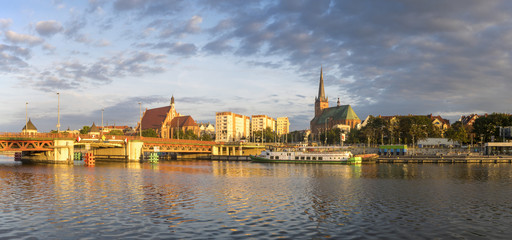 Panorama of Old Town in Szczecin,Poland