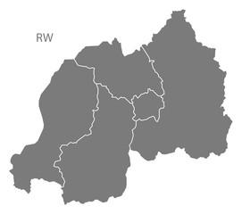 Rwanda provinces Map grey