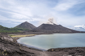 Mount Tavuruvur volcanic eruption. Tavurvur is an active stratovolcano that lies near Rabaul, on the island of New Britain, in Papua New Guinea.