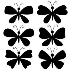 butterflies shape silhouette