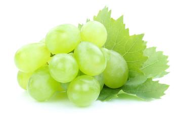 Trauben Weintrauben grün Früchte Obst Blätter Freisteller fre Fototapete