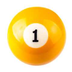 Pool ball one