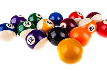 Snooker balls isolated