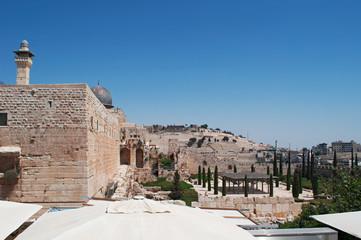 Gerusalemme: vista della Moschea Al Aqsa sul Monte del Tempio il 6 Settembre 2015. La Moschea, chiamata la più lontana, è il terzo sito più sacro per l'Islam