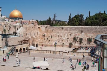 Gerusalemme: vista della Cupola della Roccia sul Monte del Tempio e del Muro del Pianto il 6 Settembre 2015