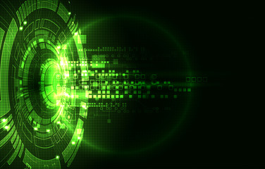 Abstract green digital communication technology background. Wall mural