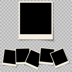 Collection of blank photo frames isolated on a background