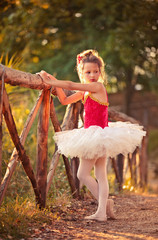 Small ballerina in the park.