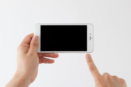 スマートフォンを操作する男性、拡張現実、ar