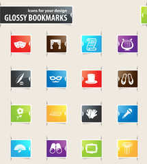 Theater Bookmark Icons