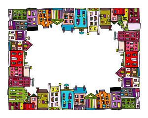 European city, frame for your design