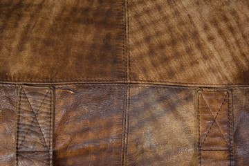 Close up leather bag
