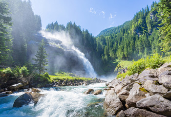 The Krimml Waterfalls in the High Tauern National Park, Salzburg