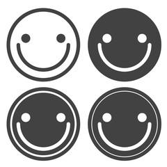 Happy face Icon Vector.