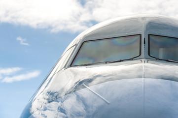 large passenger jet windshield