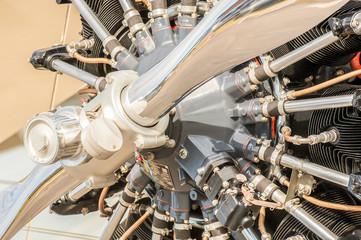 Wall Mural - vintage aircraft propeller engine