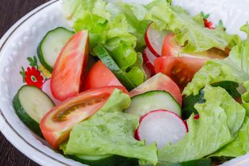 a fresh vegetable salad. healthy food