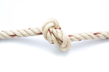 jute ropes with knot isolated