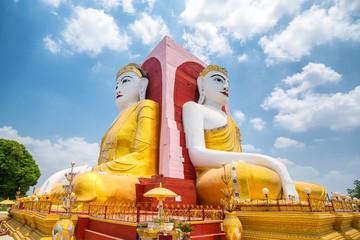 Pagoda of four Buddha Statue, Kyaikpun Pagoda in Bago, Myanmar