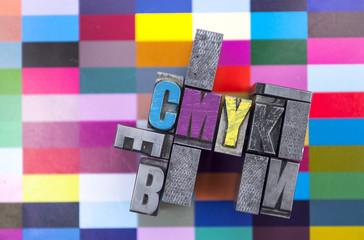 CMYK Bleisatz mit Farbproof