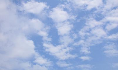Clouds blue sky background.