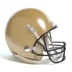 3d illustration of a football helmet