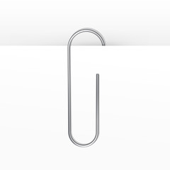 Vector Paper Clip Isolated on White Background