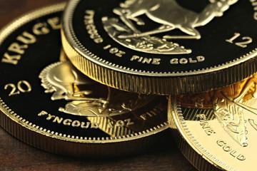Südafrikanische Krügerrand Goldmünzen
