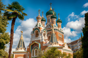 Foto op Canvas Nice Orthodoxy church in Nice, France