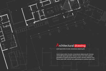 Architectural drawings, sections, plan, background. The architectural theme. Working drawings