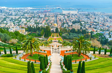 The ornamental Bahai Gardens