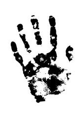 Human grunge handprint with skin texture